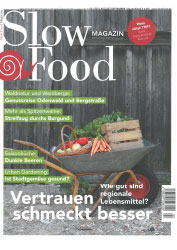 Peter Kapp im Slow Food Magazin August/September